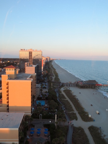 View of the boardwalk from the SkyWheel