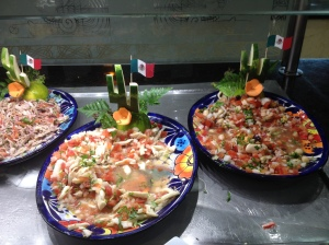 Ceviche displayed on Dia de la Independencia