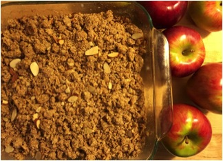 My refined sugar-free apple crisp