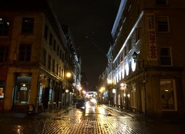 Rainy nights in Vieux Montréal