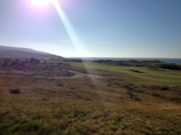Sun shining over Cabot Links