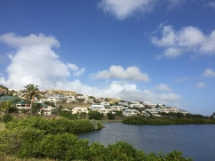 Houses overlooking Royal St. Kitts