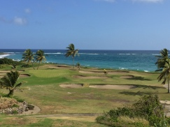 The signature par-3 15th at Royal St. Kitts