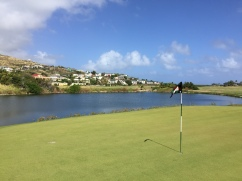 Par-4 18th at Royal St. Kitts