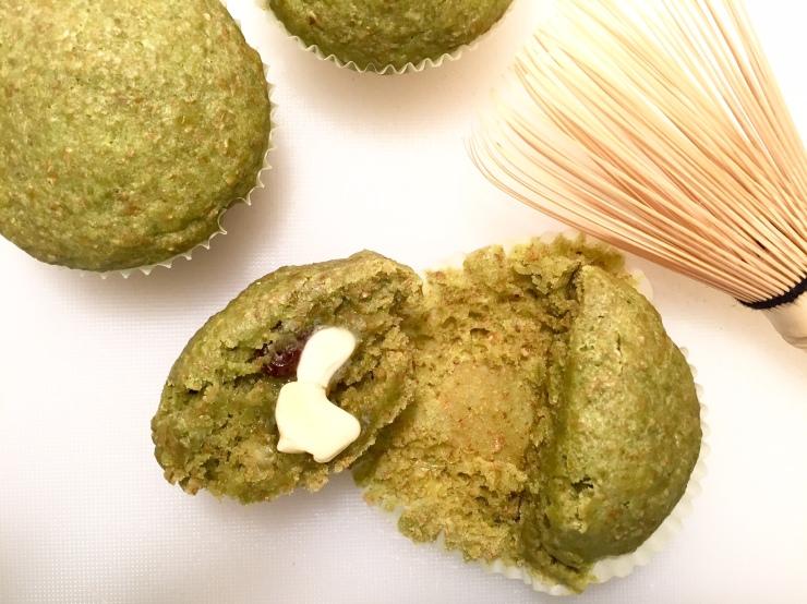 Matcha muffins (recipe: One Ingredient Chef)