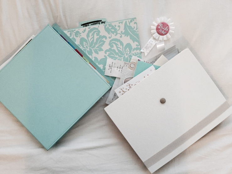 My wedding planning binder, etc.