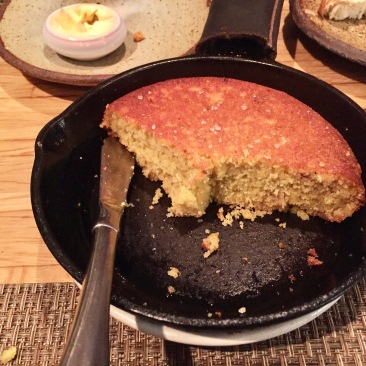 Skillet cornbread with pork-infused butter