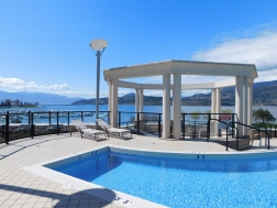 Gorgeous sun deck at the Delta Grand Okanagan