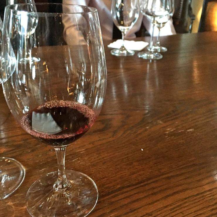 Red wine, glass