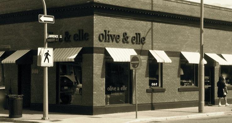 Olive and Elle storefront
